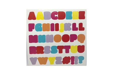 Stickers alphabets holographique - 3 planches - Alphabets, Lettres, Chiffres – 10doigts.fr