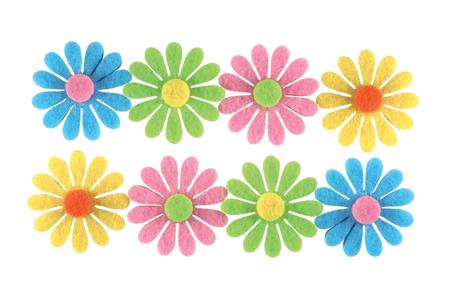 Stickers fleurs en feutrine auto-adhésive - Formes en Feutrine Autocollante – 10doigts.fr