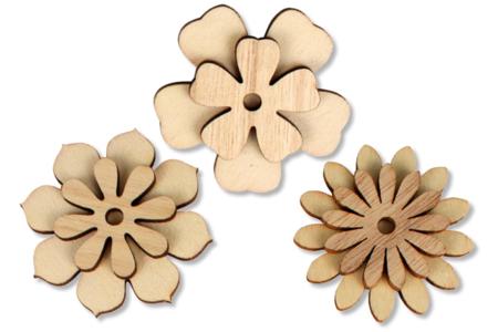 Stickers fleurs assorties - Pinces à linge fantaisie – 10doigts.fr