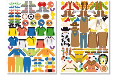 6 Planches de stickers garçons - Gommettes fantaisie – 10doigts.fr