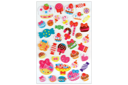 Stickers insectes 3D - 38 stickers - Décorations Anniversaire – 10doigts.fr