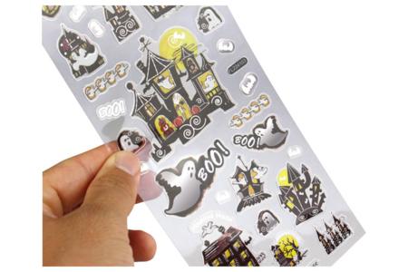 Stickers d'Halloween avec effets métallisés - Set de 159 stickers - Halloween – 10doigts.fr
