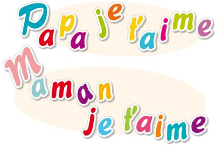 """Stickers lettres de """"Maman je t'aime"""" et """"Papa je t'aime"""" - Set de 530 stickers - Gommettes de fêtes – 10doigts.fr"""