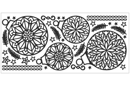 Stickers Peel off mandala  NOËL à colorier - Stickers Contours Peel Off – 10doigts.fr