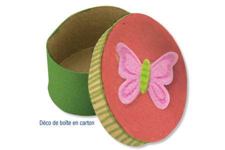 Stickers papillons en feutrine auto-adhésive - Stickers en feutrine – 10doigts.fr