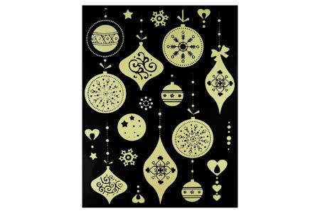 Stickers de Noël phosphorescents repositionnables - 16 stickers - Gommettes et stickers Noël – 10doigts.fr