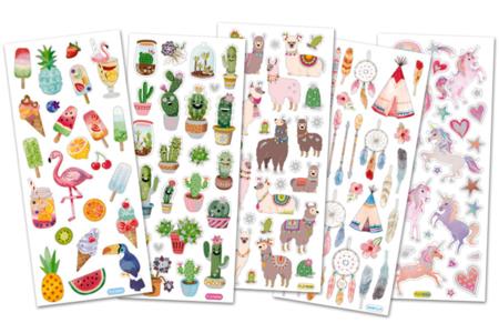 Stickers tendances avec effets pailletés - Stickers divers – 10doigts.fr