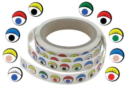 Gommettes yeux fantaisie multicolores- 500 Stickers - Gommettes Yeux et Visages – 10doigts.fr