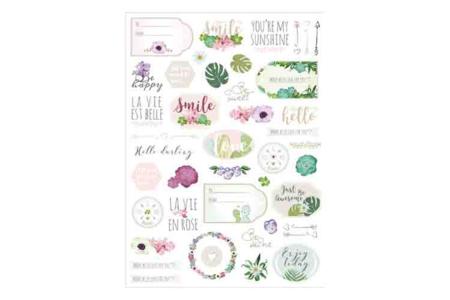 Stickers La vie en rose - 78 pièces - Gommettes fantaisie – 10doigts.fr