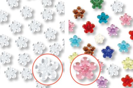 Strass adhésifs fleurs - 72 pièces - Stickers strass, cabochons – 10doigts.fr