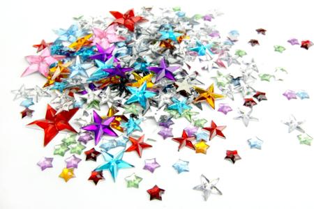 Strass étoiles - 200 pièces - Strass – 10doigts.fr