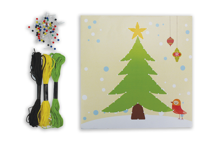 Coffret String art Sapin - String Art – 10doigts.fr