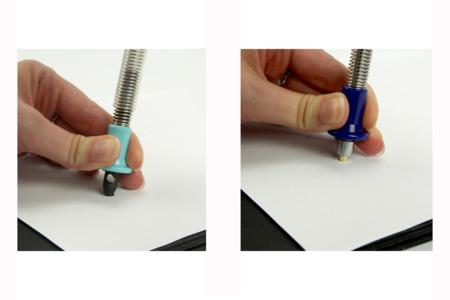 Poseur  d'œillets 2 en 1- Set de 3 outils - Perforatrices fantaisies – 10doigts.fr