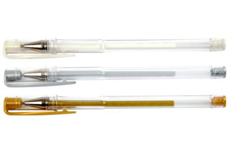 Stylo bille encre gel - or, blanc ou argent - Calligraphie, Ecriture – 10doigts.fr