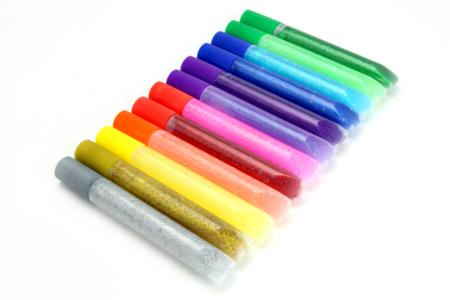 Stylos colle à paillettes effet 3D - 10 ml - Colles scolaires – 10doigts.fr