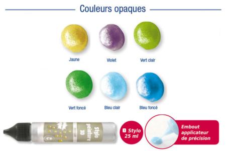 Set de 6 stylos peinture 3D - DESTOCKAGE – 10doigts.fr