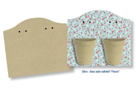 Blason en bois médium prétroué  - Supports plats en bois médium (MDF) – 10doigts.fr