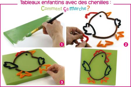 Tableau en chenilles - Cadres, tableaux – 10doigts.fr