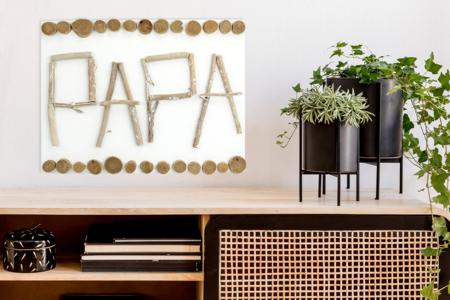 Tableau PAPA en bois flotté - Fête des Pères – 10doigts.fr