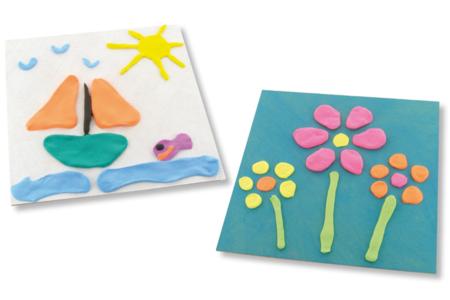 Tableaux en pâtes à modeler SOFT CLAY - Cadres, tableaux – 10doigts.fr