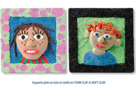 Tableaux en pâtes à modeler SOFT et FOAM CLAY - Cadres, tableaux – 10doigts.fr