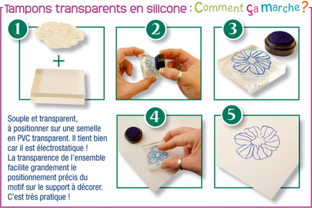 """Tampons transparents """"clear""""  Voyage - 5 motifs - Tampons transparents en silicone – 10doigts.fr"""