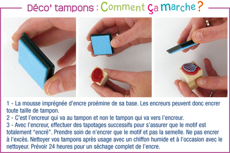 "Tampons ""Poids plume"" - 10 tampons + 3 encreurs - Tampons – 10doigts.fr"