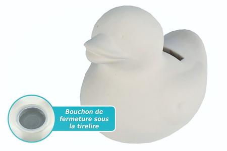 Tirelire canard en terre cuite blanche - Céramiques – 10doigts.fr