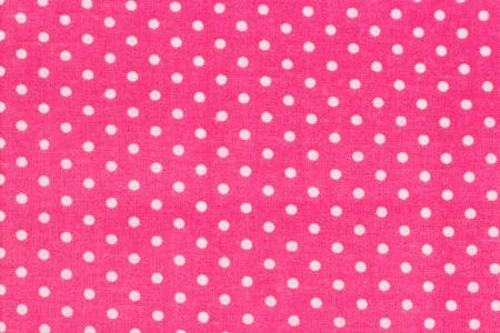 Coupon en coton imprimé : fond rose + pois blancs  - Coton, lin – 10doigts.fr
