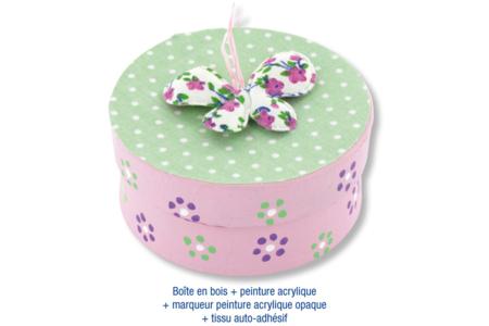 Boîte ronde en bois naturel - Boîtes, coffrets, plateaux – 10doigts.fr
