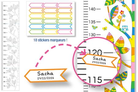 Toise nature à colorier - Support pré-dessiné – 10doigts.fr