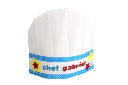 Toques de chef en non-tissé blanc - Taille enfant - Nouveautés – 10doigts.fr