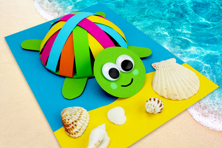 tortue en papier bricolage facile enfants - Tête à Modeler