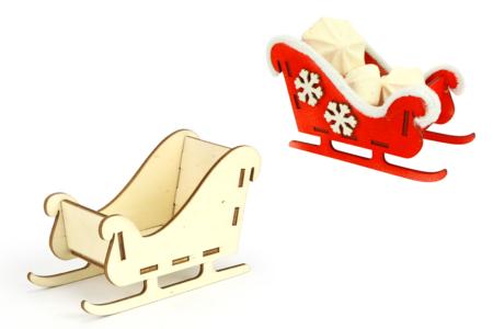 Traineau en bois à monter - Noël – 10doigts.fr