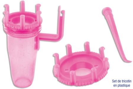 Set de tricotin en plastique à 2 têtes interchangeables - Tricotins – 10doigts.fr