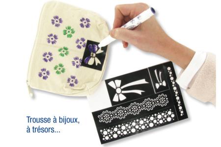 "Pochoir auto-adhésif repositionnable ""Baroque"" - Pochoir Adhésifs – 10doigts.fr"