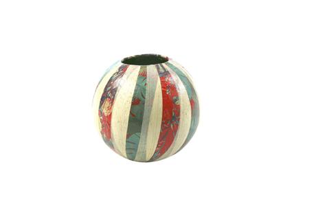 Vase en papier mâché Ø11 cm - Pots, vases, paniers, sacs – 10doigts.fr