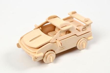 Kit voiture 3D - Maquettes en bois – 10doigts.fr
