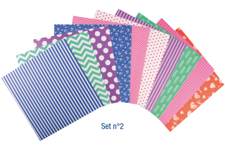 Washi paper auto-adhésif - 10 designs assortis - Set n°2 - Magic Paper – 10doigts.fr