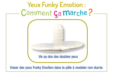 Yeux Funky Emotion - Yeux mobiles – 10doigts.fr