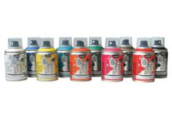 Peinture aérosol DECOSPRAY 100 ml - Set de 10 - Peinture en aérosol – 10doigts.fr