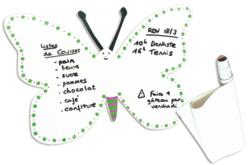 Tableau blanc auto-adhésif, effaçable à sec - Feuilles en plastique – 10doigts.fr