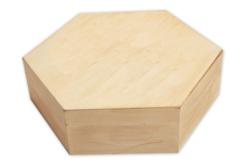 Boîte en bois héxagonale