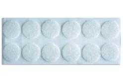 Pastilles Velcro blanc adhésives - 12 pièces - Feutrine, feutre, toile de jute – 10doigts.fr