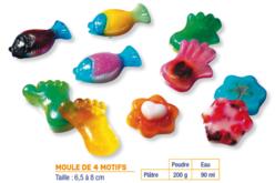 Moule pied, main, poisson, fleur