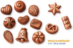 Moule 12 chocolats