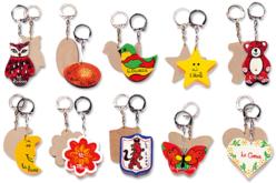 Porte-clefs motifs assortis - Porte-clefs – 10doigts.fr