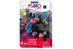 FIMO : Boîte de 12 ou 24 pains de 25 gr, couleurs assorties - Les kits Fimo – 10doigts.fr