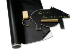 Feuille ou rouleau tableau auto-adhésif noir - Craies, tableaux, ardoises – 10doigts.fr