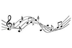 Pochoir frise Musique - 15 x 40 cm - Pochoirs frises – 10doigts.fr